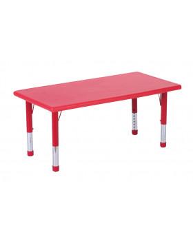 Plastová stolová deska - obdélník - červená