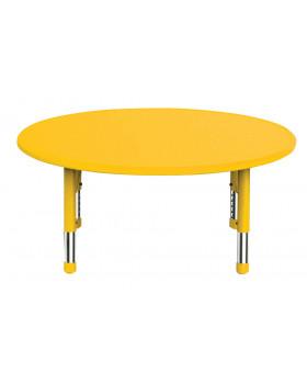 Plastová stolová deska - kruh - žlutá