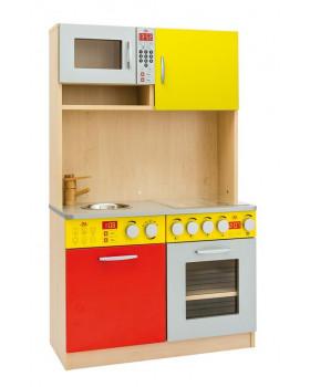 Elegantná kuchynka DUO - červeno-žltá