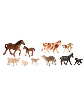 Plastové zvieratká - Na farme s mláďatami