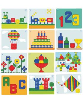 Mozaika Superhríbiky - vzorové karty do tabule