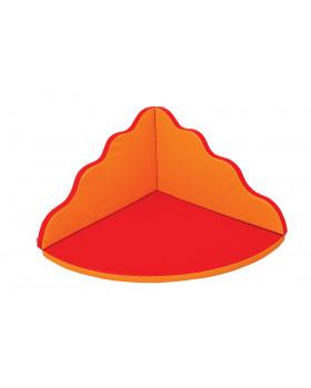 Rehabilitační koutek - Vlna velká - oranžovo červený