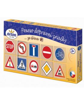 Dřevěné pexeso - Dopravní značky