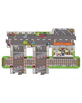 Veľké podlahové puzzle - Stanica