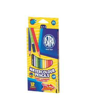 Akvarelové pastelky, 12 barev