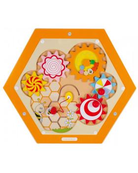 Nástěnný labyrint včelka 6