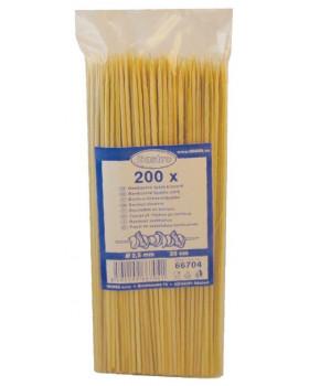 Bambusové špajdle, 200 ks