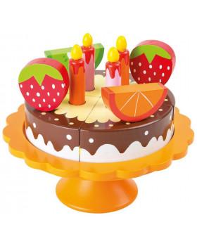 Drevená narodeninová torta
