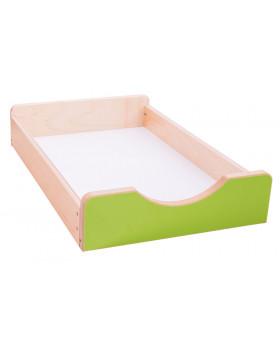 Drevený úložný box Numeric - Malý-zelený