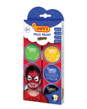 Farba na tvár - Superhrdinovia