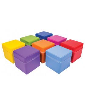 Farebné kocky, sada 8 ks