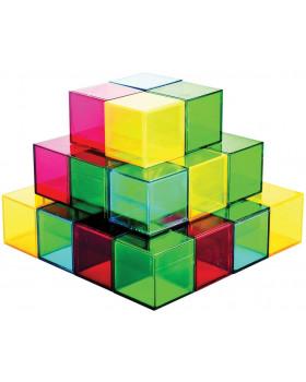 Farebné priehľadné kocky