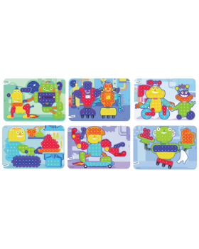 Mozaika - Vzorové karty - Roboty - Ø 15 mm