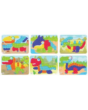 Mozaika - Vzorové karty - Dinosaury - Ø 20 mm