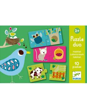 Duo Puzzle - Kde žijú?