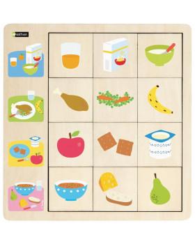 Přiřazovací puzzle - Jídlo
