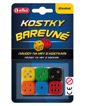 Barevné hrací kostky