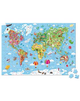 Duże puzzle - Mapa świata