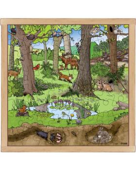 Puzzle - Les na jar a v lete