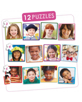 Sada 12 puzzle - Deti sveta