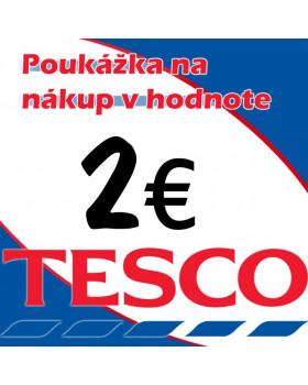 TESCO POUKÁŽKY V HODNOTE 2 €