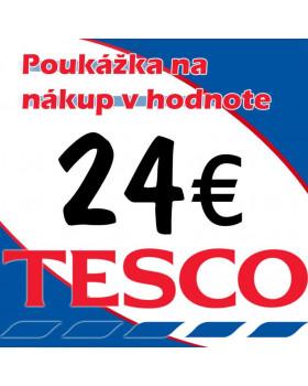 TESCO POUKÁŽKY V HODNOTE 24 €