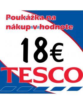 TESCO POUKÁŽKY V HODNOTE 18 €