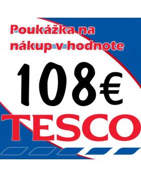 TESCO POUKÁŽKY V HODNOTE 108 €