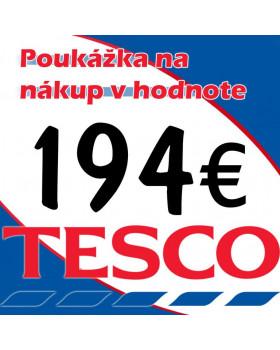 TESCO POUKÁŽKY V HODNOTE 194 €