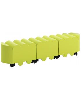 Sedací vozíky na kolečkách - Stonožka