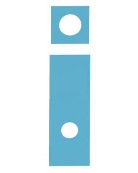 Dvířka a aplikace na šatnu Foto, sada - tmavě modré
