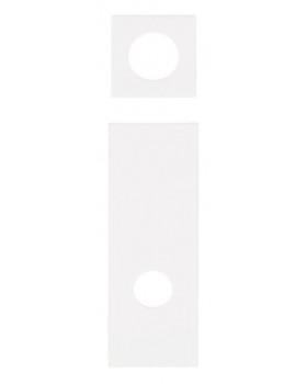 Dvířka a aplikace na šatnu Foto, sada - bílé