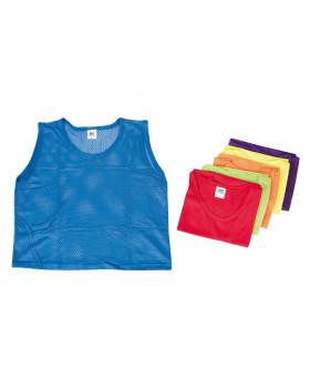 Rozlišovacie športové vesty - zo sieťoviny - S modrá