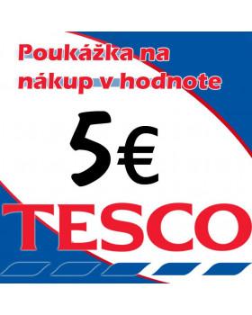 TESCO POUKÁŽKY V HODNOTE 5 €