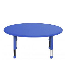 Plastová stolová deska - kruh - modrá