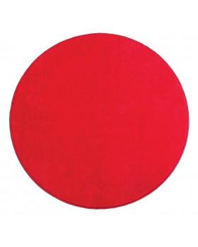 Jednobarevný koberec průměr 1 m - Červený