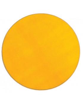 Jednobarevný koberec průměr 1 m - Žlutý