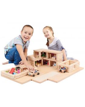 Drevená stavebnica BUKO - Poschodový dom