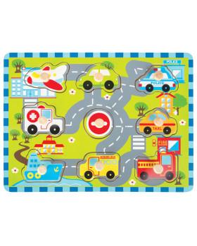 Vkládací puzzle - Městská doprava
