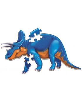 Veľké penové podlahové puzzle- Triceratops