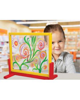 Stojan na maľovanie s bezpečnostným sklom