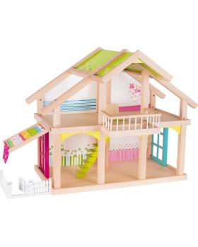Poschoďový domeček pro panenky s terasou