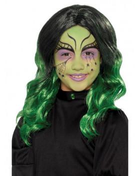 Dětská paruka - zelená