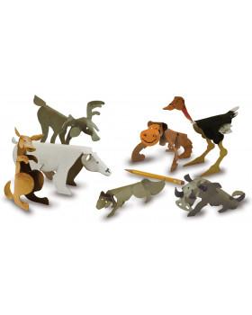 Papierové sochy - Divé zvieratá