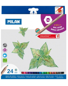 Pastelky MILAN šesťhranné - 24 ks