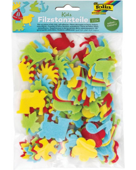 Filcová dekorace - Dětské předmety