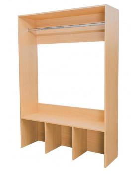 Šatníkový panel - BUK, s tyčou