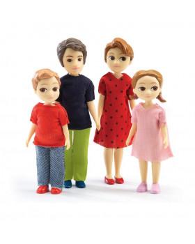 Dřevěné postavičky - Mladá rodina