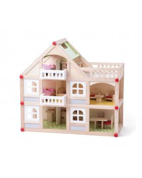 Dvoupatrový domek s balkónem a příslušenstvím