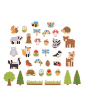 Dřevěné magnetky - V lese